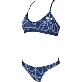 arena Carbonics Pro Two Pieces Swimsuit Women navy/neon blue